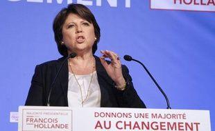 Martine Aubry au siège du PS, le 10 juin 2012.