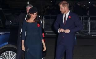 Meghan Markle et le prince Harry lors des commémorations du centenaire de la Première guerre mondiale à Londres le 11 novembre 2018.