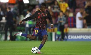 Ousmane Dembélé, le 12 septembre 2017 au Camp Nou.
