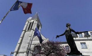 L'église Saint-Cyr-et-Sainte-Julitte le 22 avril 2015 à Villejuif, cible probable de Sid Ahmed Ghlam, algérien de 24 ans.