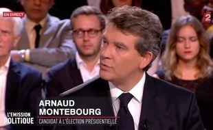 Arnaud Montebourg, sur le plateau de l'«Emission politique» jeudi 22 septembre.