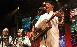 Le musicien marocain Hamid El-Kasry durant le festival d'Essaouira l'été dernier.