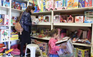 Un magasin de jouets (Illustration).