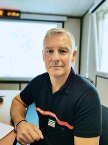 Le commandant Fabrice Gentili