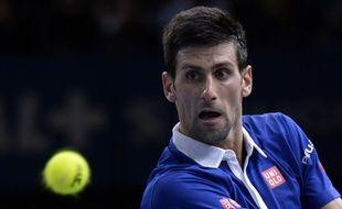 Le Serbe Novak Djokovic au tournoi de Bercy, le 3 octobre 2015.