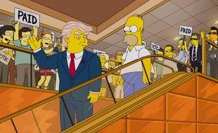 L'annonce de la candidature officielle de Donald Trump parodiée en 2015 par les «Simpson».