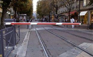 Hier, la circulation des trams étaient quasi-nulle sur les quatre lignes.