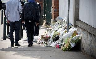 Juste après la cérémonie religieuse pour les morts du collège-lycée juif Ozar Hatorah, assassinés par Mohamed Merah le 19 mars 2012.