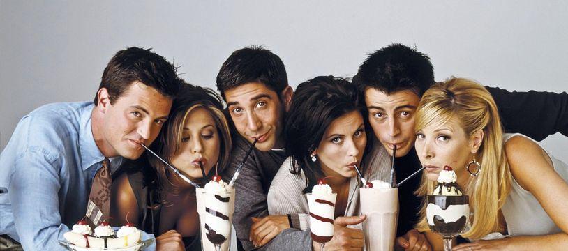 Les acteurs de «Friends»: (de gauche à droite) Matthew Perry, Jennifer Aniston, David Schwimmer, Courteney Cox, Matt LeBlanc et Lisa Kudrow