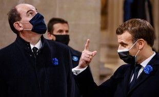 Jean Castex et Emmanuel Macron, le 11 novembre 2020 à Paris.