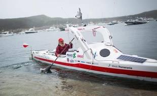 Aleksander Doba est arrivé dimanche dans le Finistère après un périple de 111 jours.