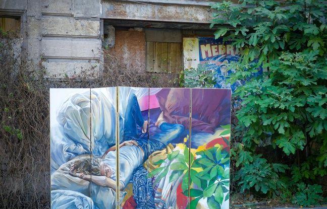 L'oeuvre de l'artiste bordelaise Rouge, «Une chambre en ville».
