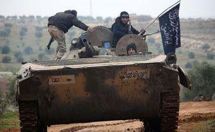 Des combattants islamistes de la brigade Liwa al-Haq dans la région d'Alep