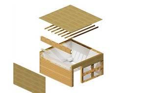 Un chambre en palette parfaitement habitable et qui prend 5 heures à construire.