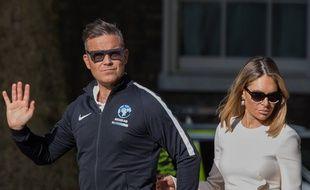 Le chanteur Robbie Williams et sa femme Ayda Field