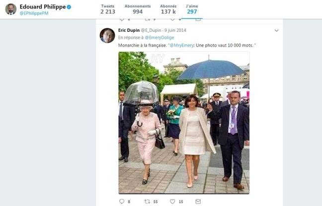 Le tweet liké par Edouard Philippe sur Anne Hidalgo.