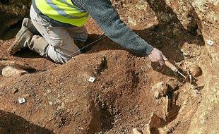 Des ossements ont notamment  été découverts par les archéologues.
