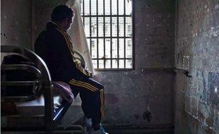 Cellule de confinement de la maison d'arrêt des hommes 1, prison des Baumettes, Marseille.