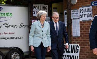 Theresa May a voté jeudi pour les élections européennes.