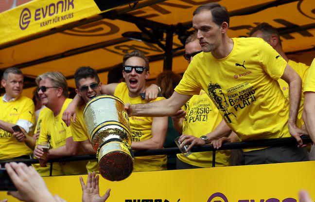 Thomas Tuchel avec son seul titre, une Coupe d'Allemagne du Borussia