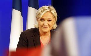 La candidate FN Marine Le Pen au soir de sa défaite à la présidentielle, le 7 mai 2017 à Paris.