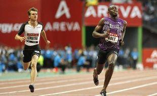 Le sprinteur français Christophe Lemaitre a fini 5e lors du meeting Areva du Stade de France loin derrière Usain Bolt le 16 juillet 2010.