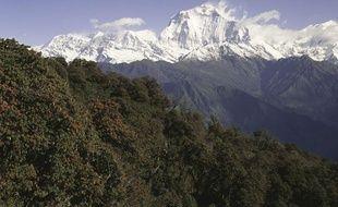 Les montagnes de l'Himalaya, au Népal.