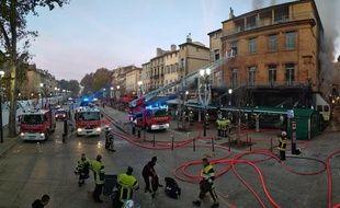 Un violent incendie a ravagé la brasserie des