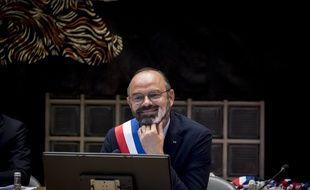 Edouard Philippe, lors de son élection comme maire du Havre, le 5 juillet 2020.