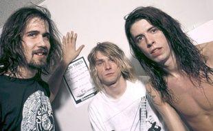 Les membres du groupe Nirvana: Krist Novoselic, Kurt Cobain et Dave Grohl