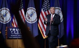 Donald Trump lors d'un meeting le 2 août 2016, à Ashburn en Virginie.