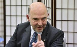 Le commissaire européen chargé des Affaires économiques, Pierre Moscovici à Sendai au Japon, le 20 mai 2016