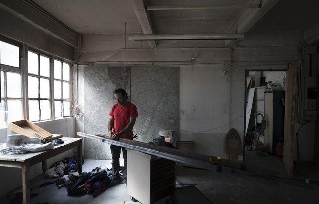 Dans l'imposant bâtiment de six étages, des artistes avaient installé leur atelier.