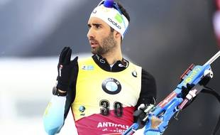 Martin Fourcade aux championnats du monde de biathlon en 2020
