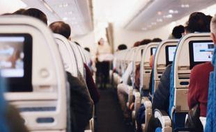 Vue intérieure d'un avion (illustration).