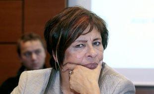 La députée Marie-Christine Dalloz (Les Républicains) à l'Assemblée Nationale, le 3 octobre 2013 à Paris