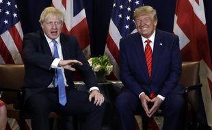 Boris Johnson et Donald Trump, le 24 septembre 2019 à New York.