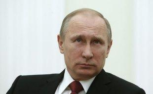 Le président russe Vladimir Poutine, le 5 mars 2015 au Kremlin à Moscou