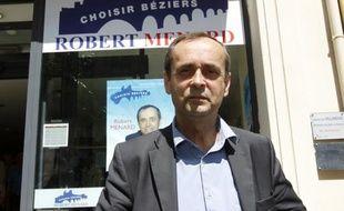 Robert Ménard, tête de liste aux municipales à Béziers en mars 2014, ici le 6 juin 2013 dans la ville.