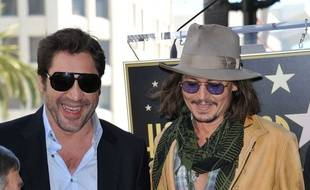 Les acteurs Javier Bardem et Johnny Depp