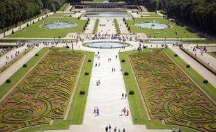 Les jardins du château de Vaux-Le-Vicomte le 16 juin 2013 à Maincy