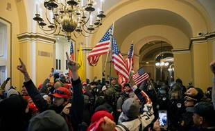 Lors de l'émeute d'extrême-droite au Capitole de Washington, le 6 janvier.