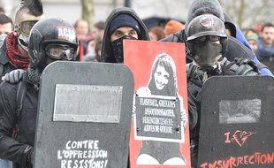 Manifestation contre «les violences policières» à Nantes le 21 février 2015.