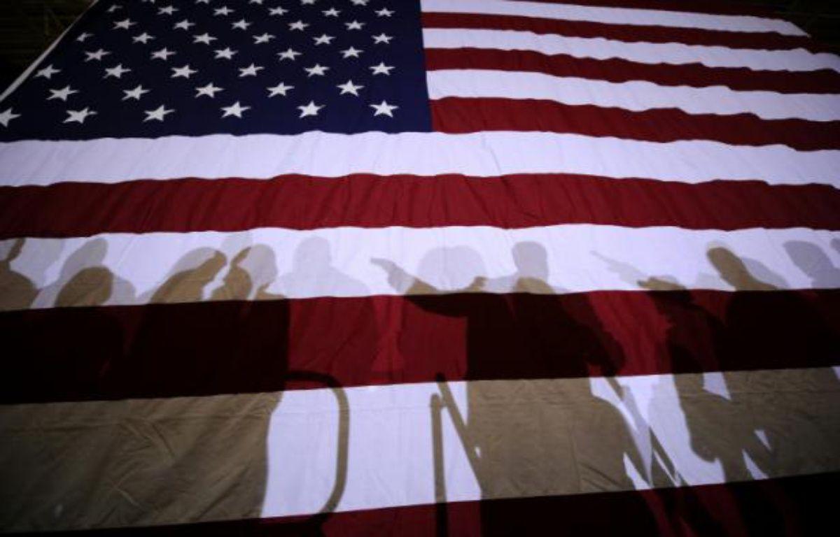 Un drapeau américain le 8 janvier 2012 à Exeter dans le New Hampshire – EMMANUEL DUNAND AFP