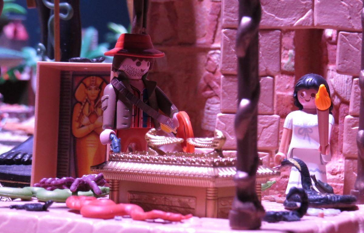 Mini World accueille jusqu'au 18 avril, une exposition consacrée aux Playmobil, à travers six films. Ici Indiana Jones. – C. Girardon / 20 Minutes