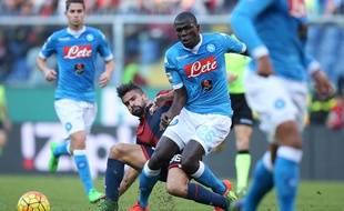 Kalidou Koulibaly lors du match entre Naples et le Genoa le 1er novembre 2015.