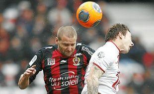 Mathieu Bodmer a marqué le seul but de la partie, dimanche.