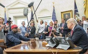Donald Trump a reçu le rappeur Kanye West à la Maison Blanche le 11 octobre 2018.