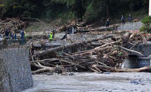 Début octobre 2020, à Breil-sur-Roya, la tempête Alex avait fait de nombreux dégâts.