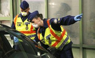 Image d'illustration d'officiers de police en Hongrie.